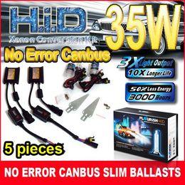 5PCS BRAND NEW 12V 35W CANBUS ULTRA SLIM BALLASTS HID CONVERSION XENON KITS NO ERROR H1 H4 H7 H11