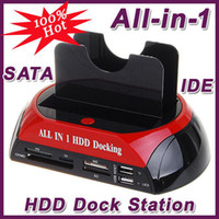 Wholesale 3 quot quot All in one SATA IDE HARD DISK HDD Docking Station HUB CF SD MS XD card reader