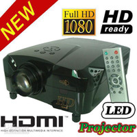 Wholesale HD P USB HDMI VGA AV LED Home Theater Projector LED lamp lasts hours