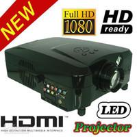 Wholesale HD P USB HDMI VGA AV LED LCD Home Theater Projector