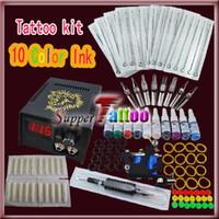 Wholesale Tattoo Kit Machine Gun Power Supplies Color Ink ST007 Complete Tattoo Kit
