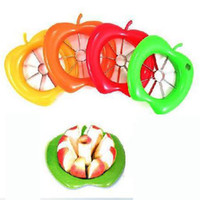 Cheap 20 pcs lot New style Apple shaped Cut fruit device ABS + stainless steel sections