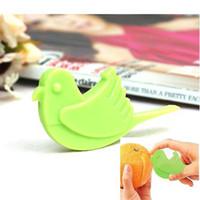 orange peel - 100 Japanese style Birds shaped Orange peel to open device PP Orange peel device