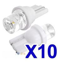 Wholesale x T10 Bulbs W5W White LED Wedge Inverted Side dc v