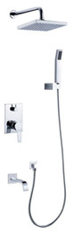 wall mounted bathtub shower mixer faucet 3uses 91005