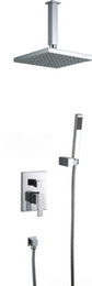 Bathroom Wall Mounted shower set with Ceiling shower arm Cold and Hot Shower Mixer Faucet NY91033A