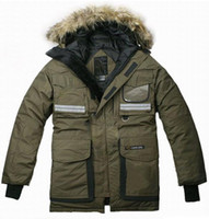 Wholesale Warm Men s Down Coat Brand Men Winter Coat Navy Green XS S M L XL XXL