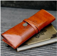 Wholesale Hot Sale Fashion Retro Pen Bags Twilight Leather Pencilcase Cosmetic Bag