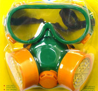 Wholesale Quality goods gas mask two sets two pipe gas mask a respirator mask mask The nuclear paint