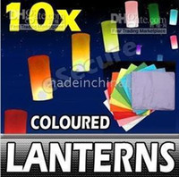 Wholesale 100 biodegradable sky lanterns flying paper BIRTHDAY WEDDING PARTY Supplies wish lanterns bvopx032