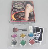 Wholesale Body Painting Tattoo Deluxe Kit Color Supply Kit glitter tattoo kit Diamond Panting Kit BALK6 sb
