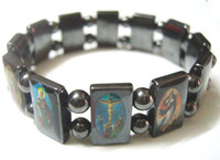 Men's american crafts christmas - 10pcs Jesus Christmas Magnetic Healthy Bracelets For DIY Craft Fashion Jewelry Gfit inch M23