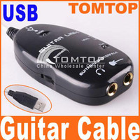 Wholesale Guitar Accessories USB Guitar Link Cable PC MAC To Guitar USB Interface Audio Link Cable I11 ipcs