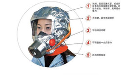 Wholesale 2015Emergency Escape Hood Oxygen Mask Respirator Disposable Minutes Fire Smoke Toxic Filter Gas Big Visor Firemask First Aid Kit Hard Cas