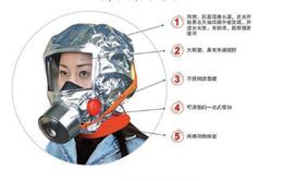 2017 les types d'incendie Gros-feu/enregistrer/type d'évacuation masque/masque à gaz/fumée masque respiratoire / / lumineux bon marché les types d'incendie