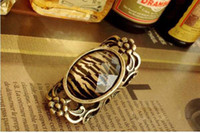 Men's big cocktail rings - Vintage Style Big Oval Tiger Lines Cocktail Rings