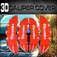 9.5 inch x 3 inch   7.5 inch x 3 inch Red Calipers & Parts 4 Pcs 3D Brake Caliper Cover For Mercedes Benz E C CLK