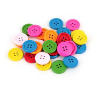 Wholesale mm Color big button Wood Beads DIY jewelry accessories Mixed color
