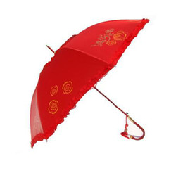 Wholesale bride wedding lace process big red wedding umbrella