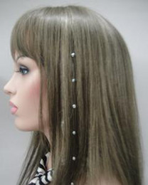 Wholesale Hair Accessories Crystal Wire Hair Extensions In Stock Crystal color Strass Hair
