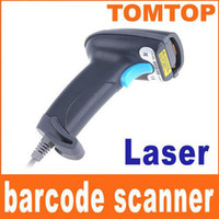 Wholesale professional USB Handheld Laser Barcode Decoder Barcode Scanner Barcode Reader Dark Grey C901