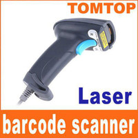Wholesale On Sales USB Handheld Laser Barcode Decoder Barcode Scanner Barcode Reader Dark Grey C901