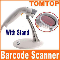 Wholesale On Sales Auto Mini Handheld USB Laser Barcode Scanner Reader with Stand bracket C1139