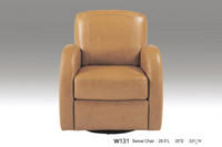 Wholesale REAL LEATHER ROTATION LEISURE CHAIR NOBLE STYLE CHOCOLATE
