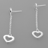 Wholesale Fashion dangle heart shepherds hook earring ZSE004