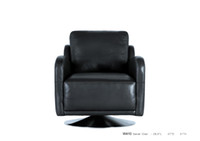 Wholesale REAL LEATHER ROTATION LEISURE CHAIR NOBLE STYLE BLACK