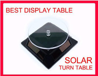 Wholesale Solar Power Turn Table Plate Rotating Display degree rotate solar display stand