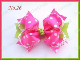 free shipping hot pink 120pcs 5.5'' big ring hair bows girl hair accessories popular hair clips