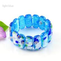 Mode dichroïque murano lampwork soufflé bracelets de verre vénitiens bijoux bijoux fashion pas cher bijoux Mub003