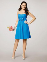2011 Customer Made Bridesmaid Dresses Spaghetti Knee Length Chiffon Bridesmaid Dresses AA25