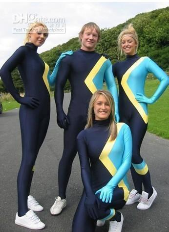 Wholesale Zentai & Catsuit Costumes - Buy Super Blue with Yellow ...