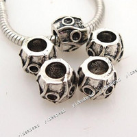 With Metal Elements   New Alloy carve 925 Charms Bead Metal Beads Fit Bracelet and Diy European Necklace 150729 24pcs lot