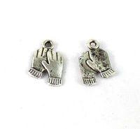 150PCS Tibetan silver Hands Charm A13967