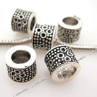 With Metal Elements   Alloy Carve 925 dot Charms Bead Metal Beads Fit Bracelet and Diy European Necklace 150734 24pcs lot