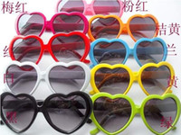 Wholesale 10pcs Heart shaped sunglasses candy colors men and women general sun glasses tide glasses