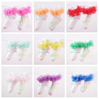 Wholesale ruffle flower pettiskirt flowers socks tutu skirt sock colors in stock pairs