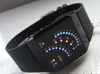 Wholesale Hotting Fashion Sport LED Watch Waterproof Fan Shaped Lovers Watches individual Black White New
