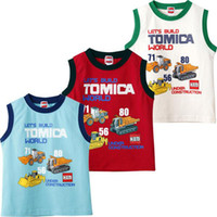 for Summer baby boy gilet - Boys t shirts vests tees baby t shirts gilet tank tops shirts Blouse singlet kids top outfits YX143
