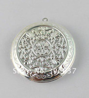 Wholesale 20PCS Silver Plate Round Locket Pendant mm