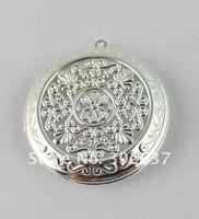 Wholesale 20PCS Silver Plate Round Locket Pendant mm