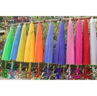 Wholesale 11Colors Hand Made Bamboo Paper Umbrella FFF