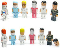 Wholesale OEM men doctor usb flash drive pendrive with GB Robot USB Flash Drives