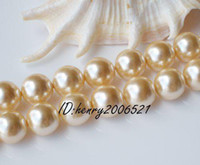 Wholesale 12mm gold sea mother of shell pearl Loose beads DIY quot