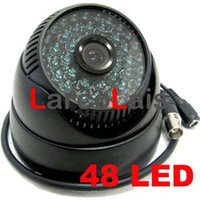 Wholesale 48 LED IR CCTV Color Dome Day Night Indoor Security Surveillance Camera quot CMOS NTSC PAL Black