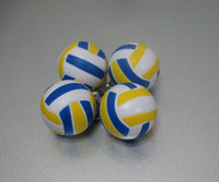 Wholesale 20pcs Mini Volleyball Shaped Rubber Keychain Lover Key Chain Parts