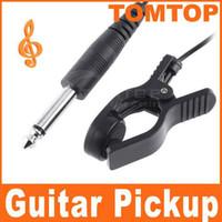i9 - On Sales Pickup Universal General Guitar Acoustic Clip line black built in vibration sensor I9
